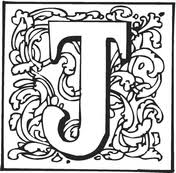 Letter J With Ornament