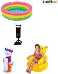 Inflatable Bathtub For Toddlers India by Intex Stealodeal 3 Feet Kids Bath Water Tub With Air Pump With