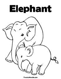 Elephant Coloring Page JPG