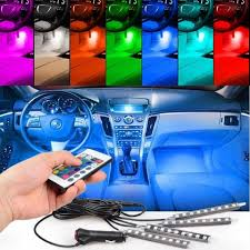 100 Led Lights For Trucks Interior Remote Control LED 4 PCs SHOPCITING