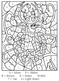 Color By Number Worksheets Difficult Printable For Adults Coloring Pages Best