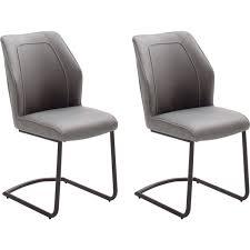 mca furniture esszimmerstuhl aberdeen 2er set materialmix stoffbezug und kunstleder stuhl belastbar bis 120 kg