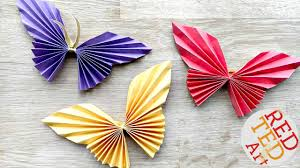 Paper Arts And Crafts Coloring Pages Butterfly Yt Easy Origami Beautiful Butterflies