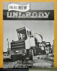 100 White Freightliner Trucks 1969 Truck Half Cab UniBody Sales Brochure