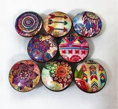 Babies R Us Dresser Knobs by Set Of 8 Boho Gypsy Print Cabinet Knobs Boho Gypsy Boho And