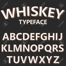 Retro Alphabet Vector Font Old Style Typeface On Dark Background Typography For Labels