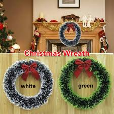 Christmas Wreath Decor Wall Door Hanging Ornament Garland Xmas Party