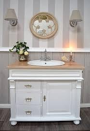 waschtisch landhaus waschbeckenunterschrank vintage waschbecken mit unterschrank rustikal badmöbel landhausstil waschtischunterschrank