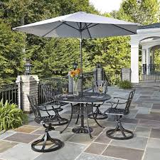 Patio Cushions Home Depot Canada by Home Styles Biscayne 48 In White 5 Piece Round Swivel Patio
