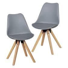 wohnling 2er set retro esszimmerstuhl lima grau polsterstuhl skandinavisch rückenlehne küchenstuhl kunstleder gepolstert