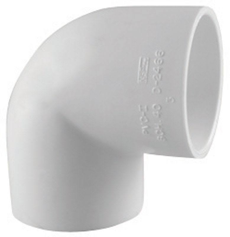 Charlotte Pipe Pvc 90 Degree Elbow Schedule 40 - White, 2-1/2""