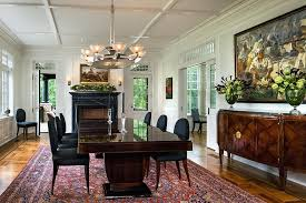 Art Deco Dining Room Traditional With Ceiling Design Glass Pocket Door