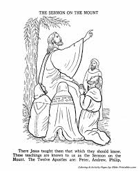 Jesus Teaches Coloring Pages 9