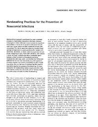 Child Bed Fever by Handwashing Practices For The Prevention Of Nosocomial Infections