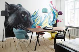 Apartment Interior Filled With Graffiti Style Art