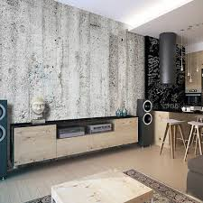 vlies fototapete steinwand beton grau tapete schlafzimmer wandbilder 135 ebay