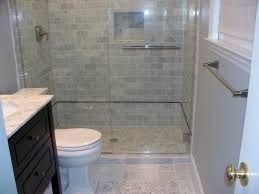 bathroom plan with subway tile wainscoting and slate tile