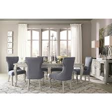 Captains Chairs Dining Room by Signature Design By Ashley Coralayne Silver Dining Room Table