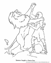 Print This Bible Story Character Samson Killing A Lion Coloring Activity Sheet For Your Student Or Sunday School Class And Let Them Color As They Learn