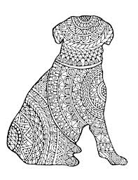 Free Complex Dog Coloring Pages With For Adults Pdf Download