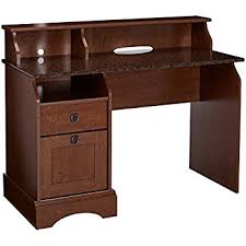amazon com sauder shoal creek desk jamocha wood kitchen dining