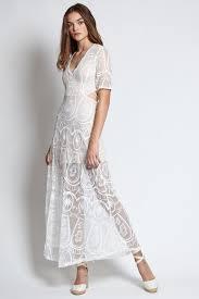 louisa mesh u0026 lace maxi dress in white vaingloriousyou