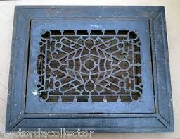 sale antique cast iron louvered floor register grate vent chic 14