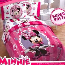 Minnie Mouse Twin Bedding by Disney Minnie Mouse Sweet Treats Cupcake Girls Twin Comforter