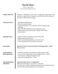 Sample Resume For Fresh Graduates IT Professional
