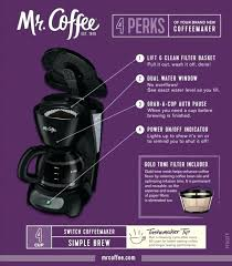 Clean Mr Coffee Maker 4 Cup Switch Coffeemaker Manual