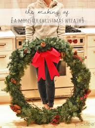 how i made my huge christmas wreath for under 30 tutorial on