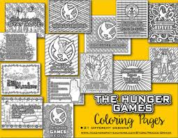 Adult Coloring Book Hunger Games