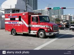 Miami Beach Florida Alton Road Fire Rescue Truck Emergency Medical ...