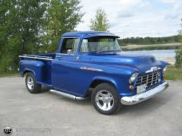Chevy Truck | 1956 Chevy Pickup 1300 Longbox Viper Blue Id 14221 ... 1956 Chevy Truck For Sale Old Car Tv Review Apache Youtube Pin Chevrolet 210 Custom Paint Jobs On Pinterest Panel Tci Eeering 51959 Truck Suspension 4link Leaf Automotive News 56 Gets New Lease Life Chevy Pick Up 3100 Standard Cab Pickup 2door 38l 4wheel Sclassic Car And Suv Sales Ford F100 Sale Hemmings Motor 200 Craigslist Rat Rod Barn Find Muscle Top Speed Current Projects