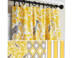 Yellow And White Curtains For Nursery by Yellow Curtains Yellow Grey Window Curtain Nautical