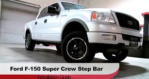 Spyder Auto Installation: 2004-2008 Ford F-150 Super Crew Step Bars ... 3 Round Sidebars Steelcraft Automotive Step Bars Cap World Rolling Big Power Rx3 Step Bar Bed Liner On Bars Do I Need To Remove The Plastic Covers 2018 Titan Pickup Truck Accsories Nissan Usa Sliders Nerf Pure Tacoma Parts And Amazoncom Nfab T1064r Toyota 4runner Bar With Drop Down Gevog 6 Running Boards Fit 9916 Ford F23450 Super Duty Country Step Installed Forum 22008 Dodge Ram Quad Cab 475 Wide 79 Long