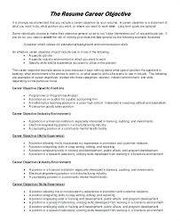 Job Objective For Resume Career Sample Application Download Objectives Hotel Restaurant Management
