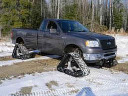 american track truck snow country be prepared ford trucks