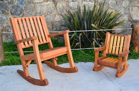 Massive Wood Rocking Chair, Custom Redwood Rockers