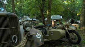 A German Army Military Camp In The Woods In World War II With ...