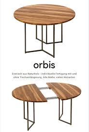 runder esstisch aus massivem naturholz modell orbis