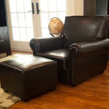 Leather Tufted Chair And Ottoman by Furniture Red Tufted Leather Chair And Ottoman With Metal Legs