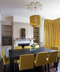 Gold Dining Room Contemporary Dublin By Optimise Pertaining To Yellow Chairs Ideas 3