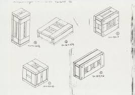 Richard Artschwagers Sketch Shows Detailed Plans For The Six Wooden Crates Of His Edition Parkett 46 Each Crate Though Different In Size