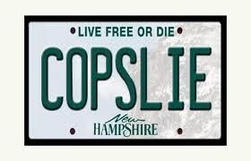 """NH man fights denial of """"COPSLIE"""" vanity plate"""