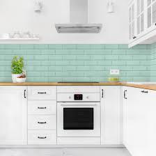 küchenrückwand keramikfliesen türkis wohnung küche