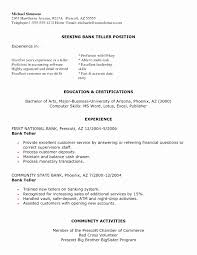 Sample Resumes Bank Teller Entry Level Resume Unique Examples For Banking