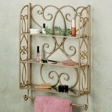 Bathroom Wall Cabinets With Towel Bar by Gianna Wall Shelf With Towel Bar