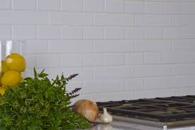 2x8 subway tile backsplash pattern the cook top of 2x8 and 2x4 matte white tile