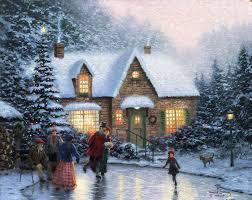Thomas Kinkade Christmas Tree by Christmas Artwork Of Thomas Kinkade